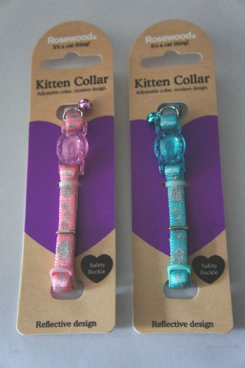 Reflective collar ideal for kittens with or without ID tag